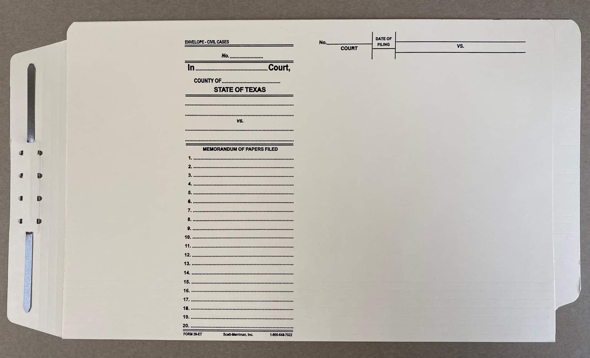 End Tab Form 26