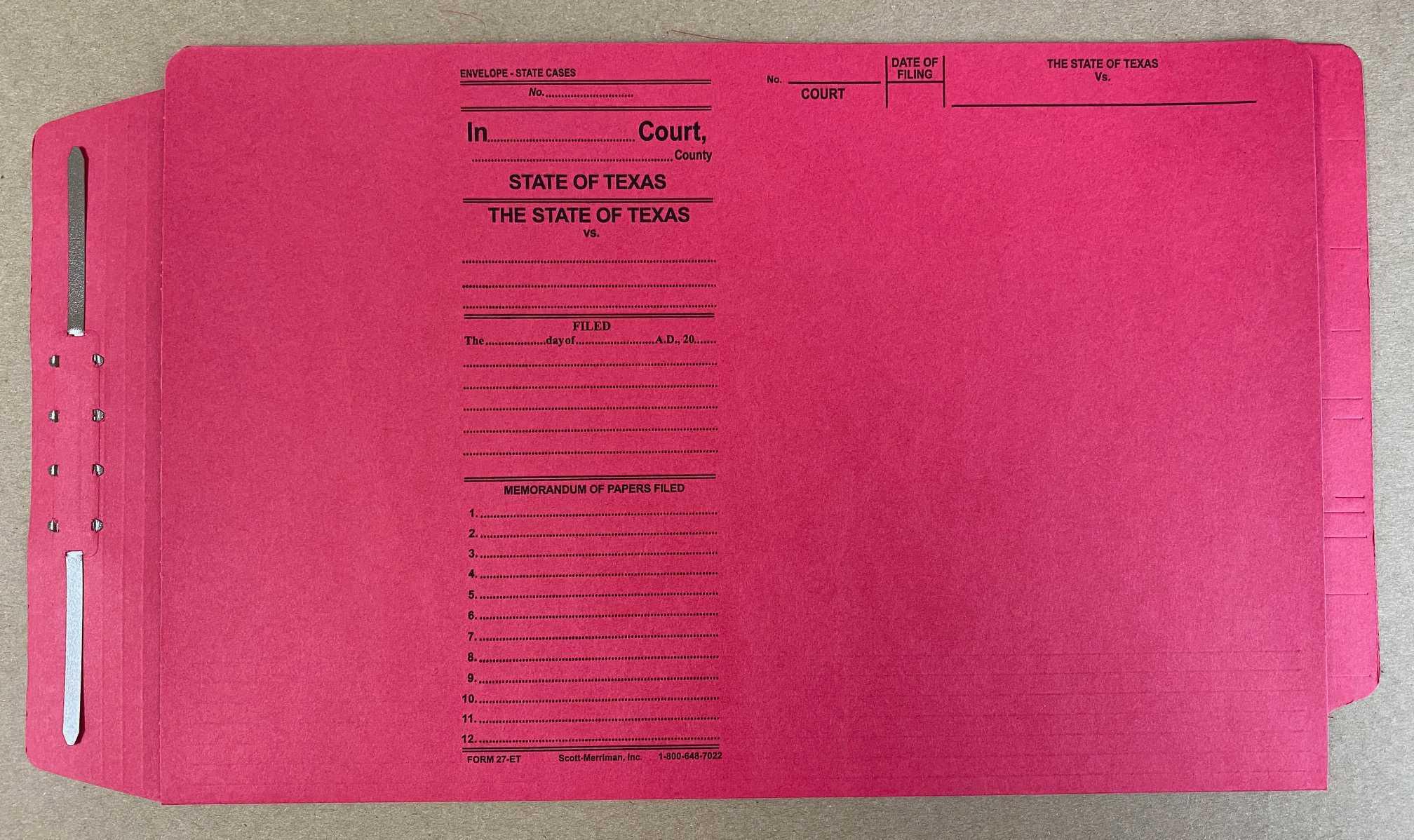 End Tab Form 27