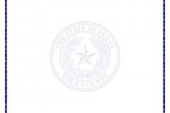 Texas County Seal Paper LEGAL