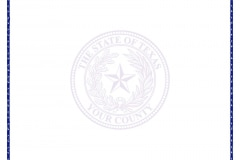 Texas County Seal Paper LETTER