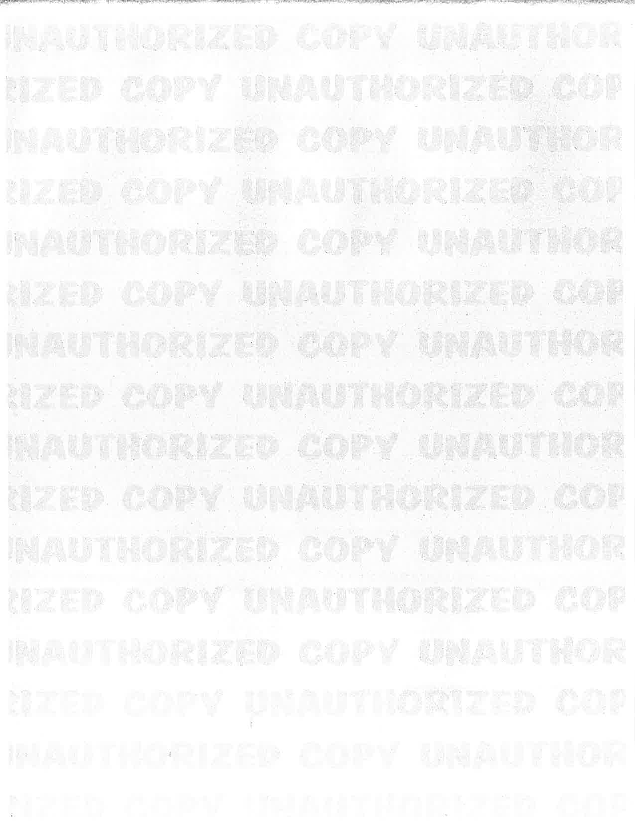Security Paper Unauthorized Copy