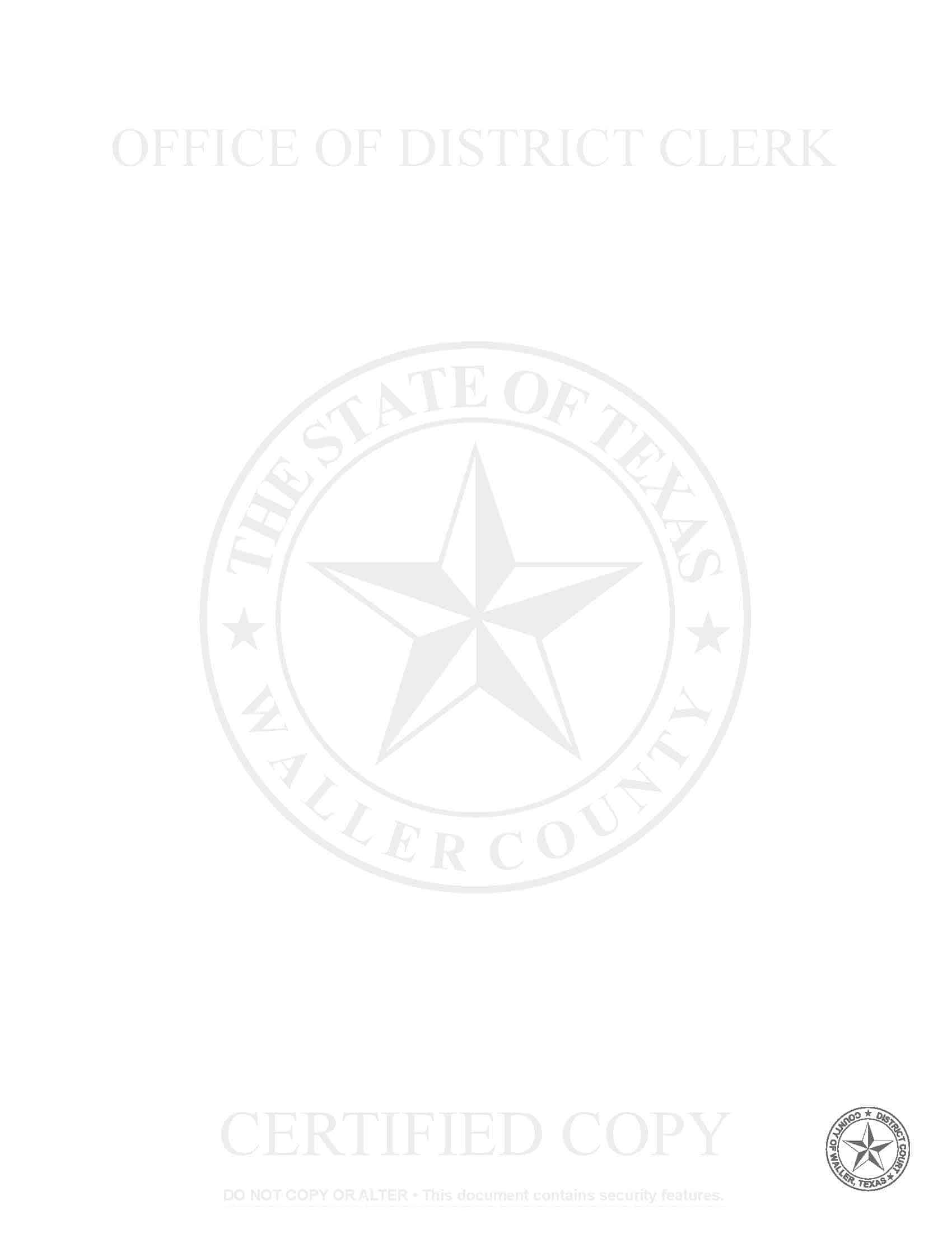 Security Paper Waller County