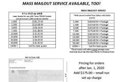 Voter Registration Certificates Pricing